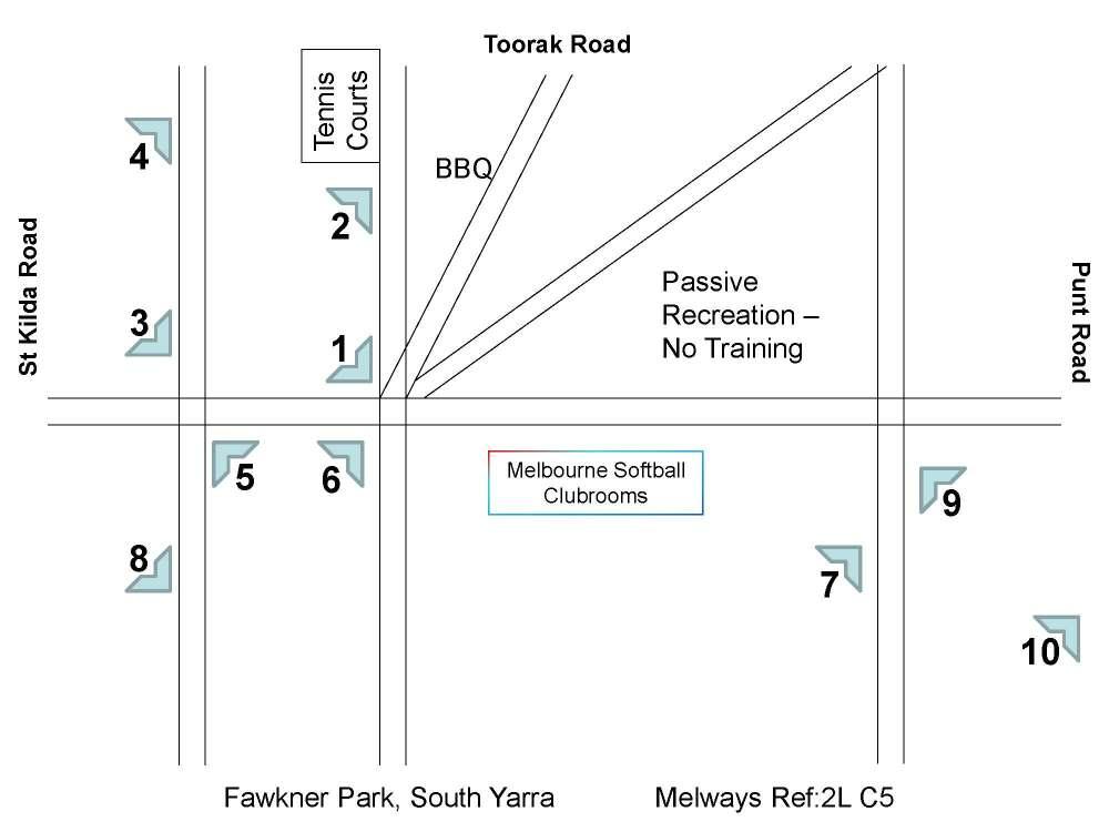 medium resolution of fawkner park diamond layout
