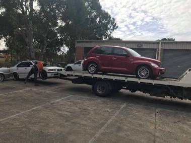 2 Cars removed at the same time