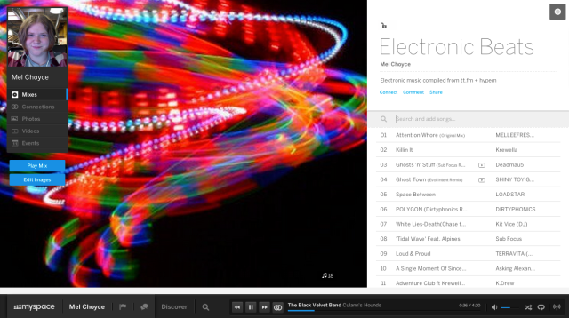 Myspace's new playlist feature