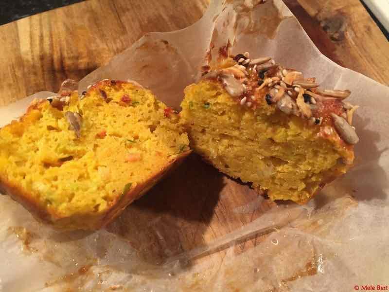 Zoete aardappelmuffin