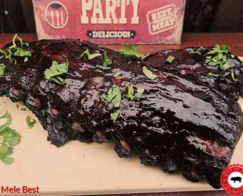 Whiskey cola spareribs