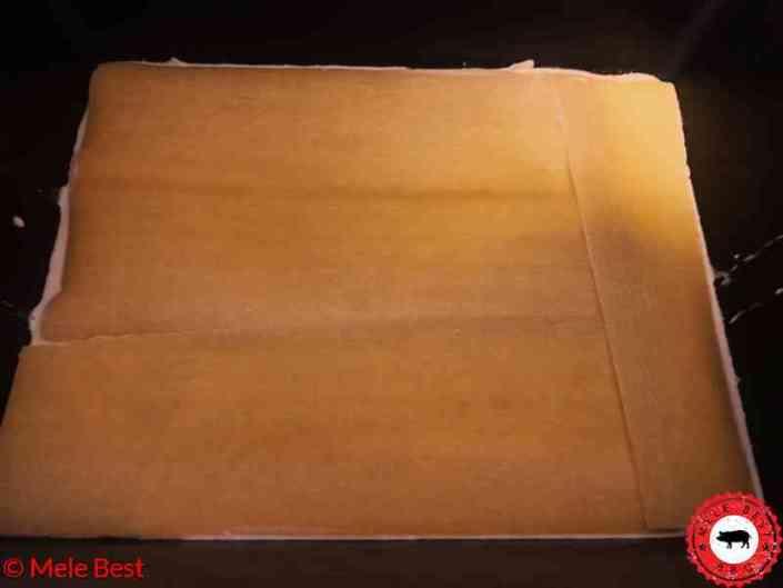 Mac cheese lasagne met gerookte kipfilet