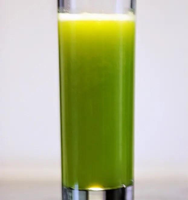 Suco de melão, agrião e laranja