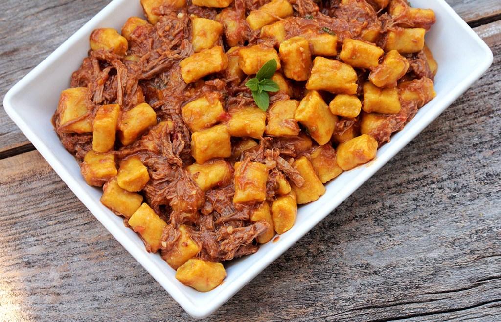 Nhoque de batata-doce com abóbora