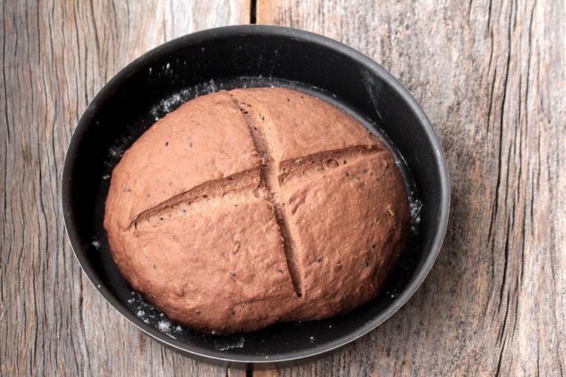 Receita de pão preto
