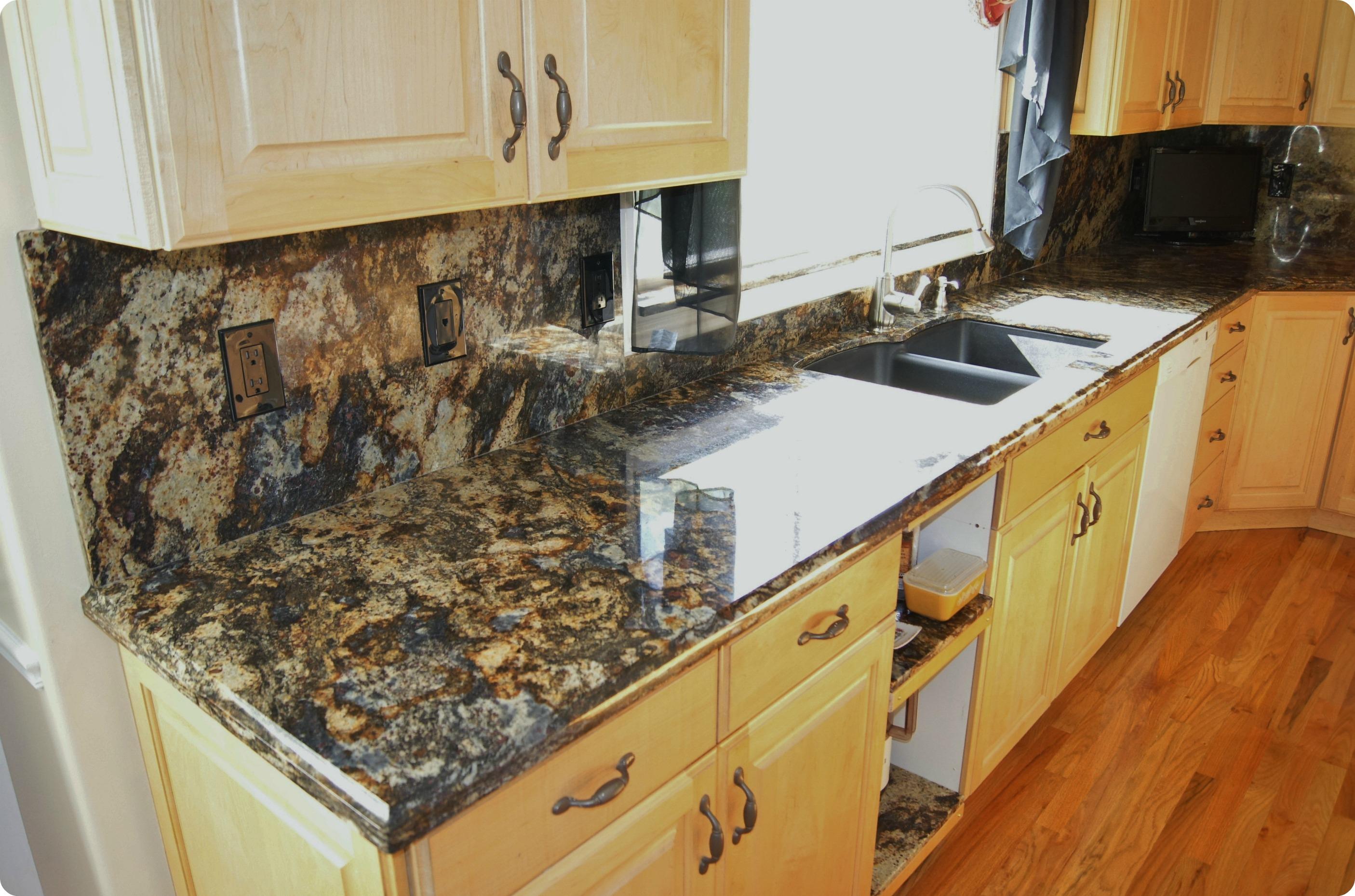 Purple Dunes Granite Kitchen  Mele Tile and Natural Stone