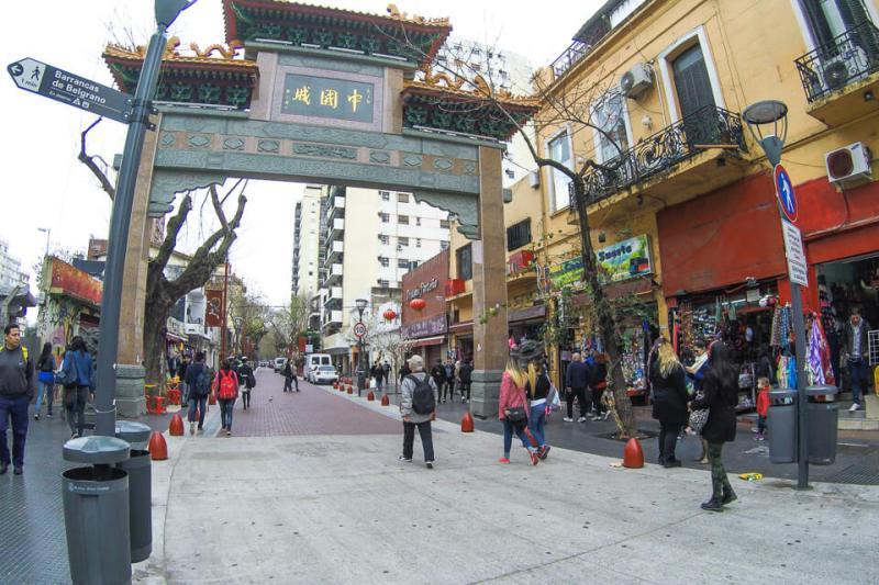 Portal da entrada do Bairro Chines de Buenos Aires