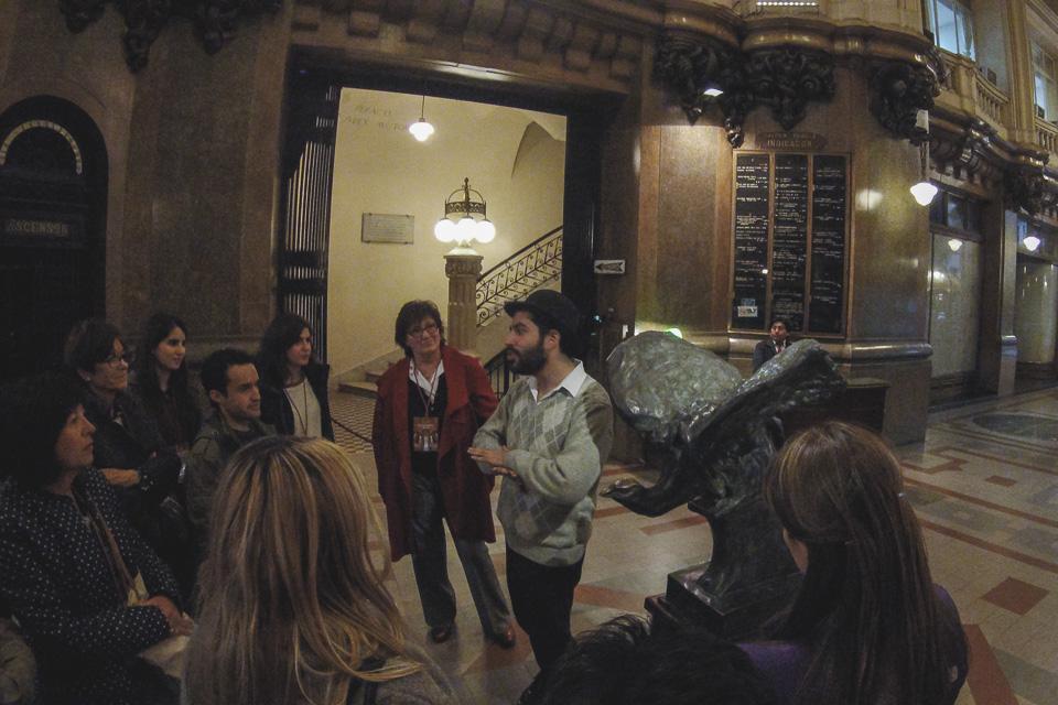 Piso térreo é onde começa o tour do Palácio Barolo