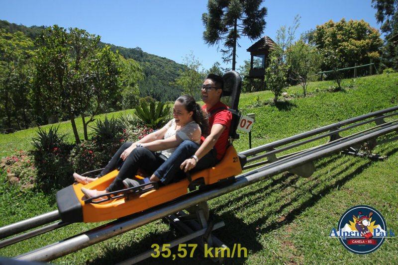Parque de diversão em Canela na Serra Gaúcha
