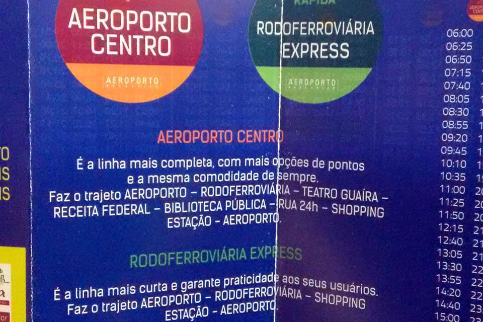 Como ir do aeroporto de Curitiba ao centro sem gastar