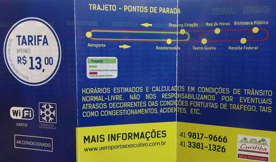 Como ir do aeroporto de Curitiba para o centro