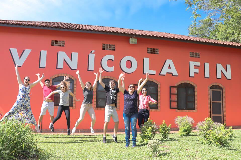 Vinícola Fin no interior do Rio Grande do Sul