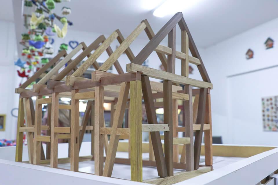 Estrutura das casas típicas alemãs para colecionador