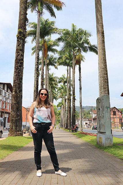 O que ver em Blumenau? Visite a Alameda das Palmeiras