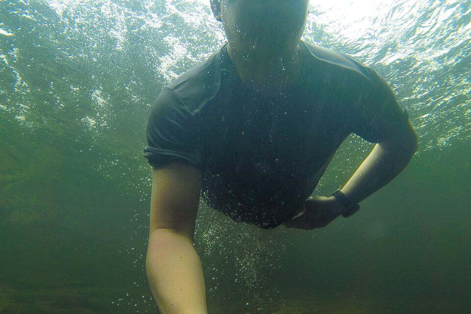 Pura Aventura - banho de rio no Rio Itatinga no Parque das Neblinas