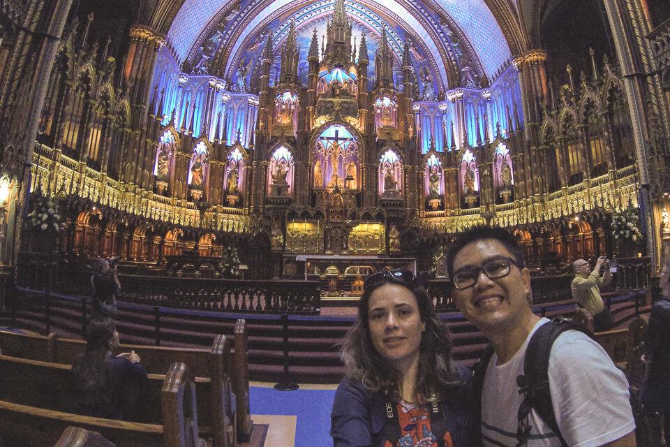 Principal atrativo de Montreal Basílica de Notre-Dame, Montreal - Canada