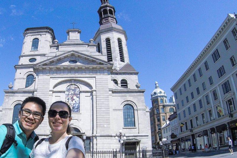Fachada Basílica de Notre Dame de Quebec