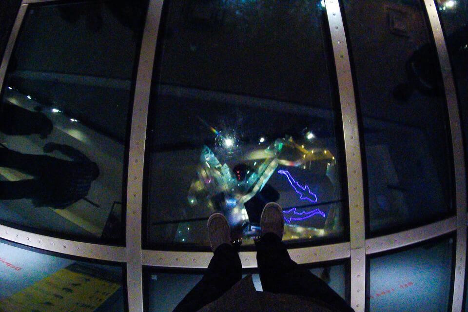 Chão de Vidro (Glass Floor) da CN Tower