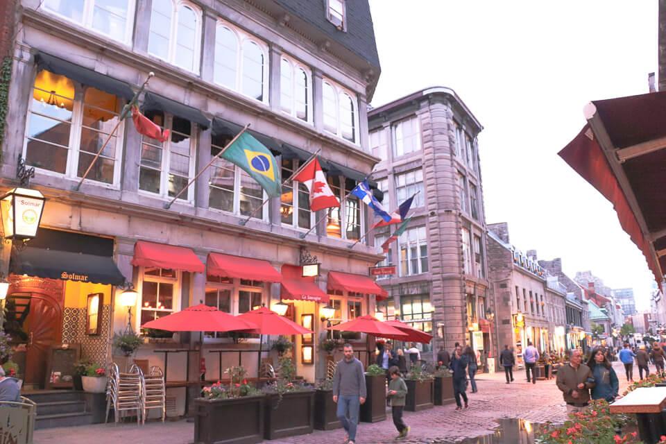 Onde comer em Montreal? restaurantes da ruaSaint-Paul