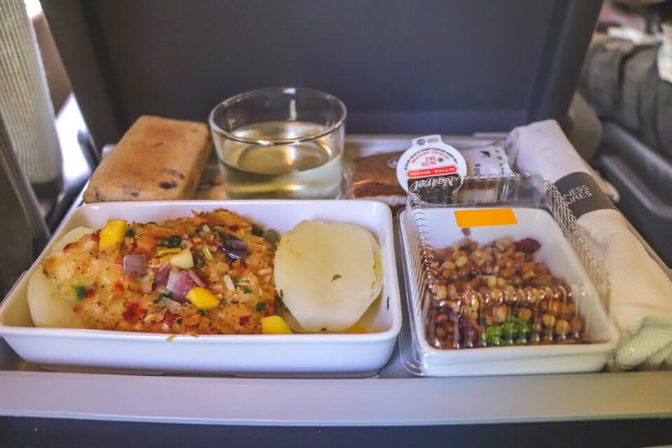 refeição da classe executiva do trem de quebec para toronto