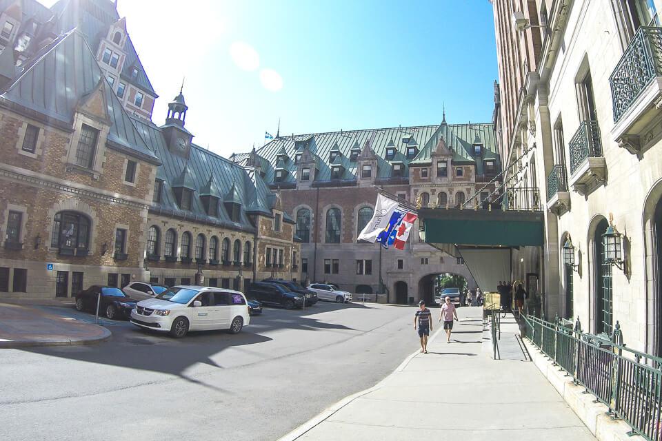 Área interna do Chateau Frontanec, Quebec City - Canada