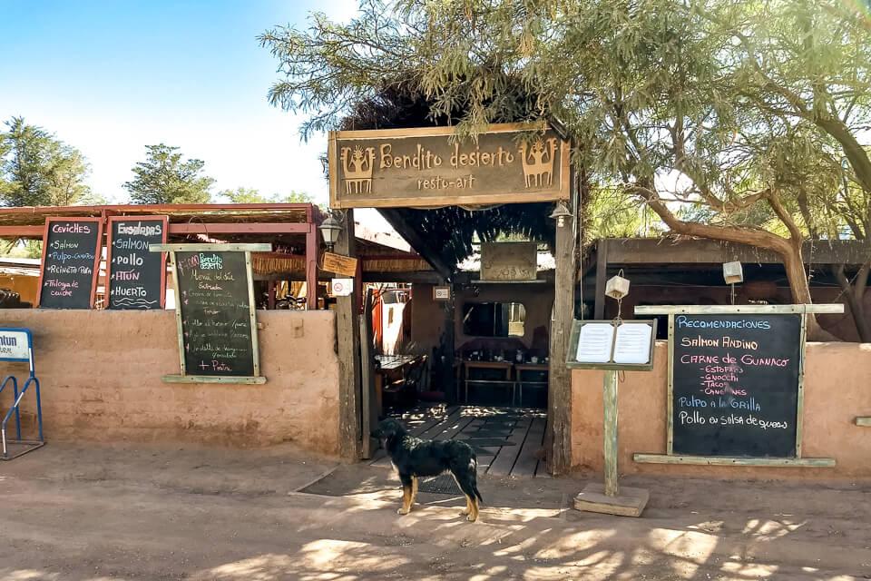 onde comer em San Pedro do atacama - Bendito desierto