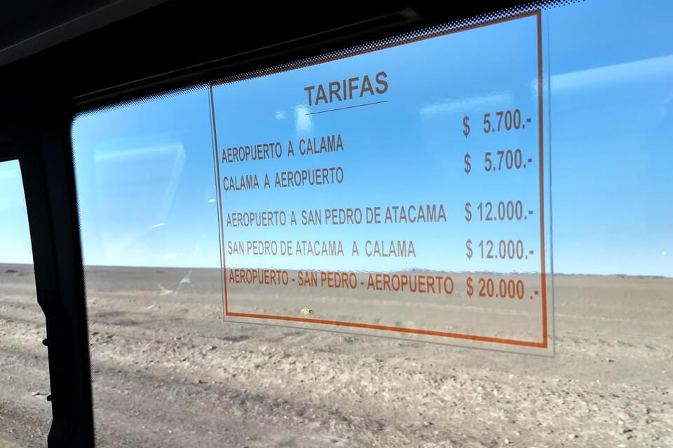 Como ir de Calama para San Pedro de Atacama - Quanto custa o transfer
