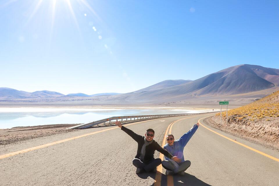 Laguna Tuyaito - principais passeios deserto do Atacama Lagunas Altiplânicas