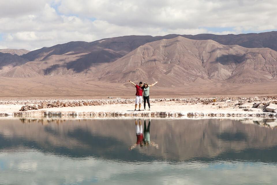 Qual a melhor lago para entrar nas Lagunas Escondidas de Baltinache - Deserto do Atacama