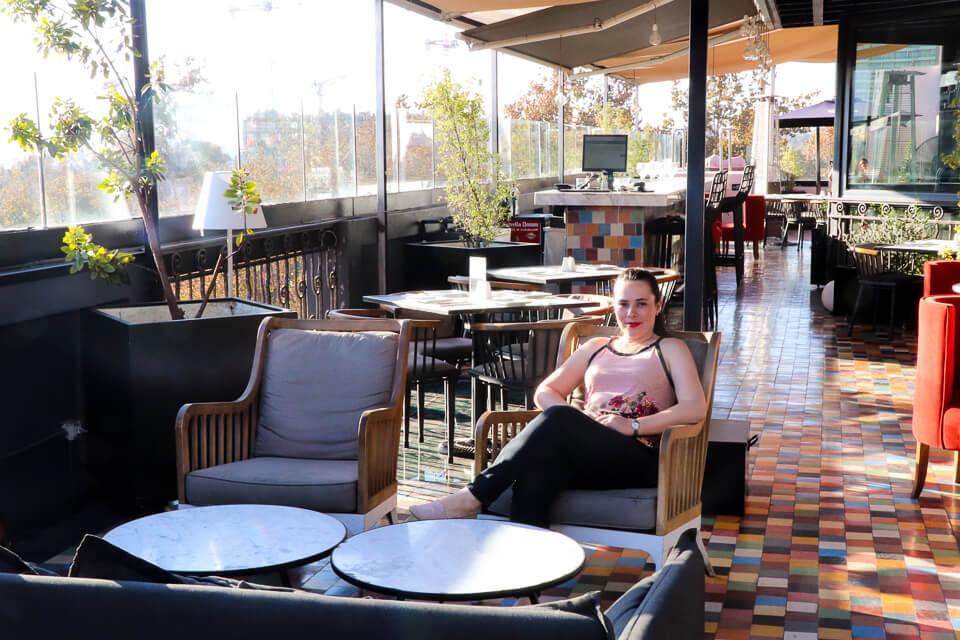 Hotel com terraço em Santiago do Chile, Luciano K