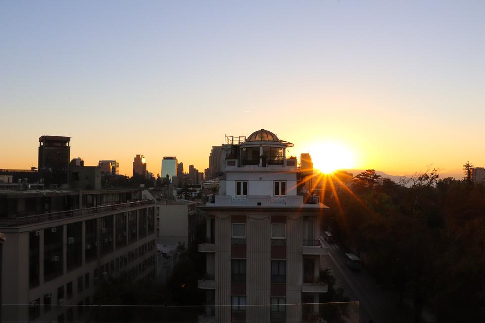 Lugares para jantar no por do sol em Santiago do Chile - Terraza K