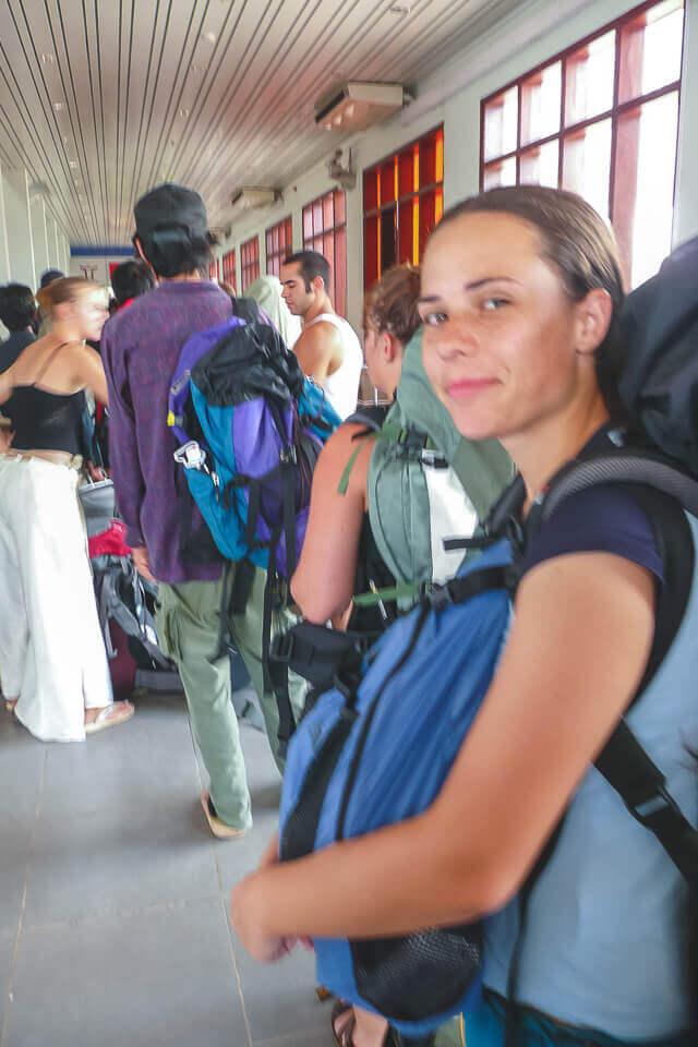 Check point na fronteira do camboja e vietna