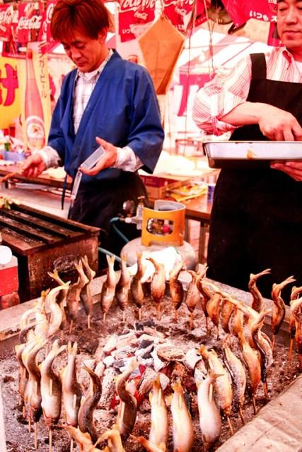 Comidas exóticas do Japão