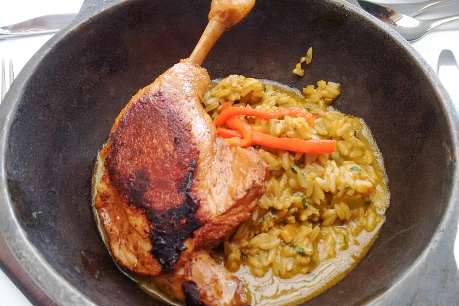 O que comer em Lima - Arroz con pato a la Chiclayana