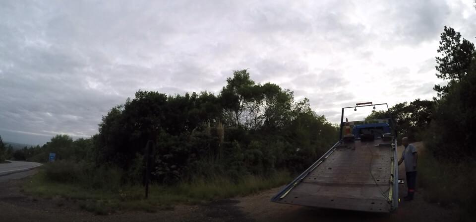 A Doblo campervan quebrou
