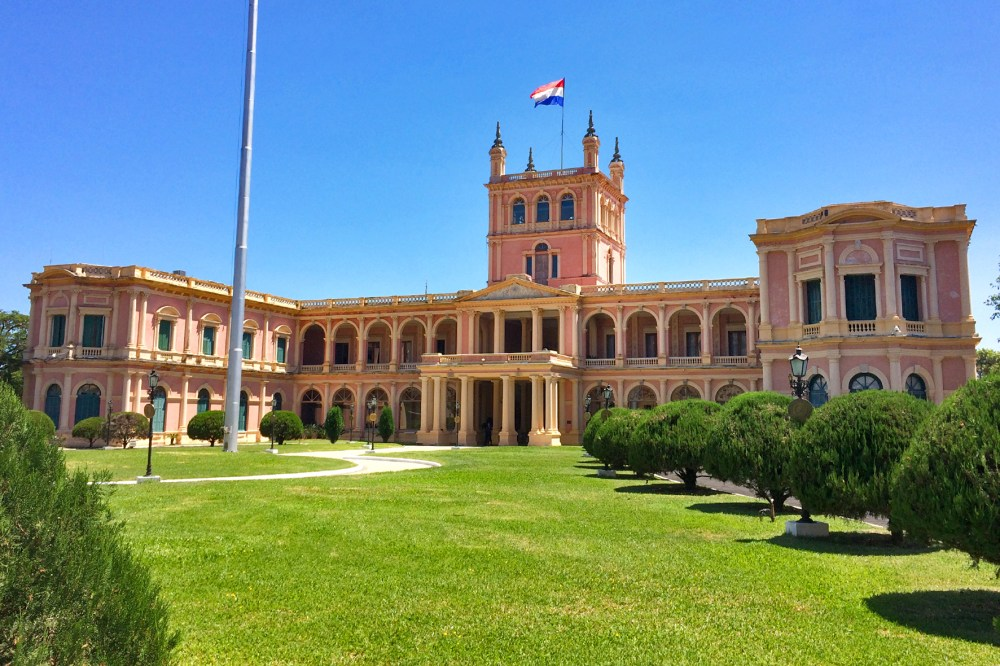 foto do palacio do governo do paraguai