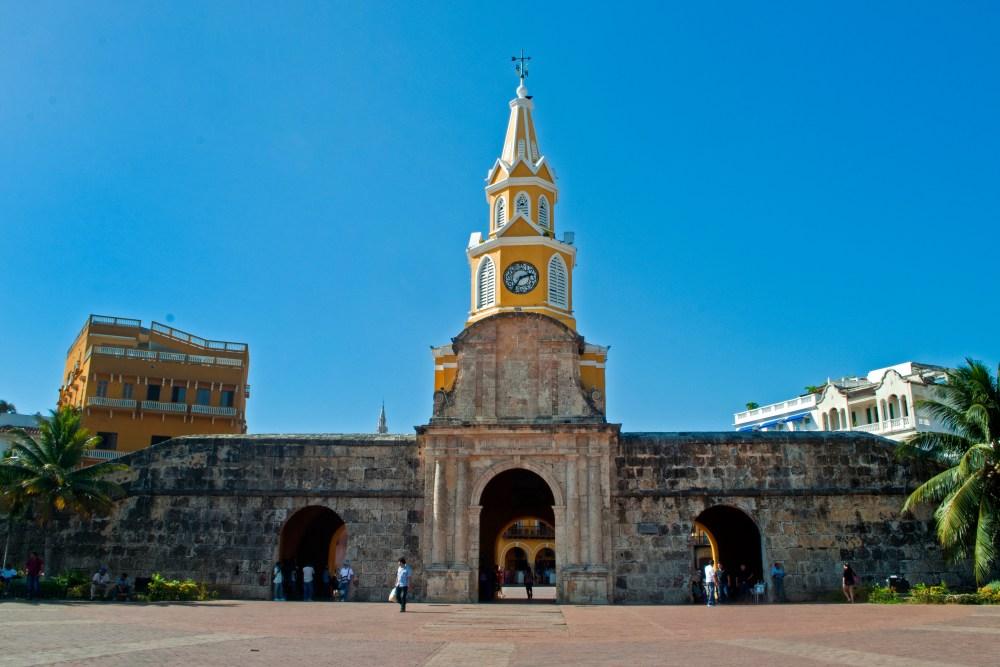 ciudad amurallada, Torre del Reloj. Cartagena de Indias, Rafaela Ely©2013