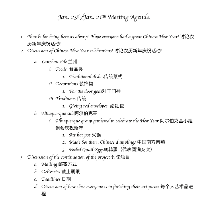 6th Meeting – Agenda