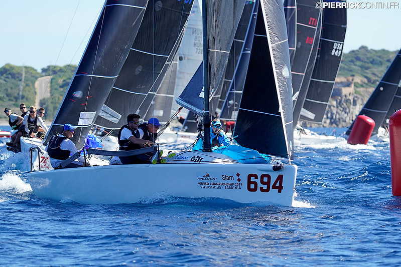 Miles Quinton's Gill Race Team GBR694 with Geoff Carveth helming wins first and third race in Corinthian division. Photo © Pierrick Contin  / IM24CA