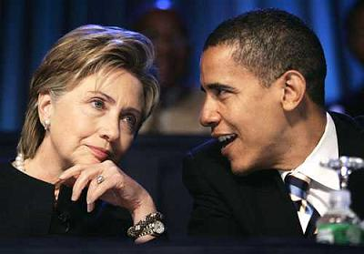 Obama and Clinton together