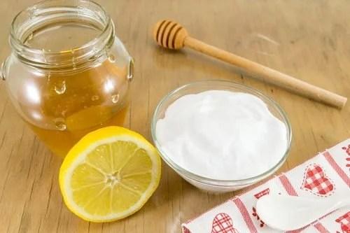 Bicarbonato com mel