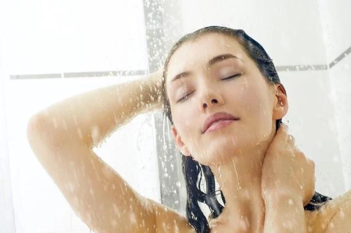 banho com água fria