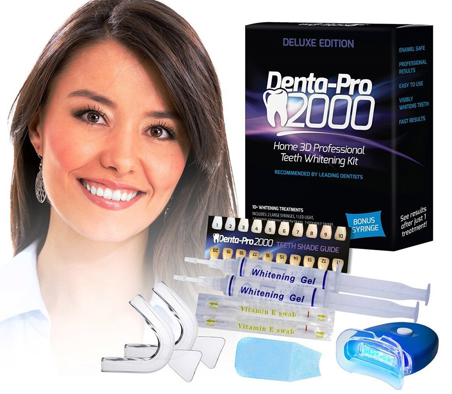 DentalPro 2000 at home Professional Teeth Whitening Strips