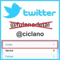 Trocar nome Twitter