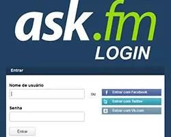 Ask.fm login