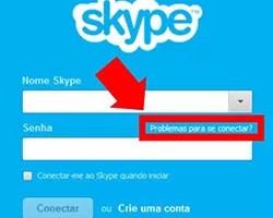 Recuperar senha Skype