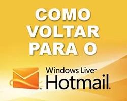 Sair Outlook Retornar Hotmail