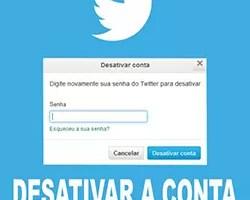Desativar conta Twitter