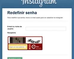 Instagram Recuperar Senha