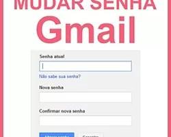 Mudar senha Gmail